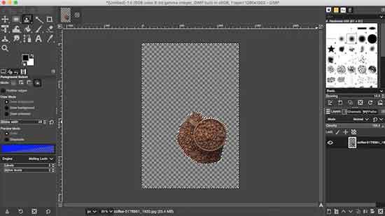 Как создать прозрачный фон в GIMP
