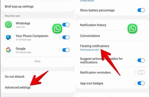 Как отключить пузыри уведомлений на телефонах Samsung Galaxy