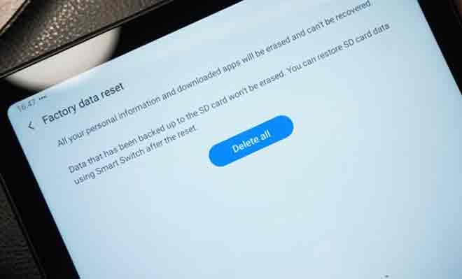 Как сбросить Samsung Galaxy Tab A7 10.4 (2020)