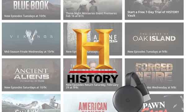 Как установить и смотреть History Channel на ТВ через Chromecast