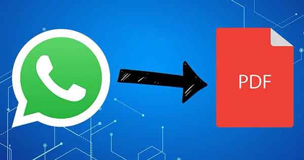 Как экспортировать чат WhatsApp в формате PDF