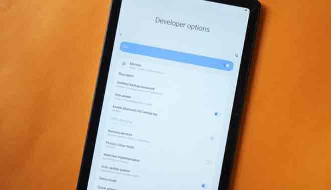 Включите параметры разработчика и отладку по USB на Samsung Galaxy Tab A7 10.4 (2020)