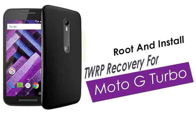 Установите TWRP recovery и Root Moto G3 Turbo