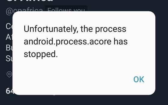 Как устранить ошибку «Процесс com.android.phone остановлен»