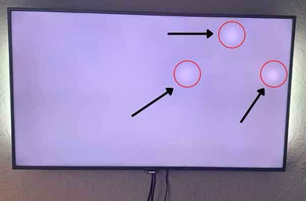 Белые пятна на экране телевизора, причины и решения