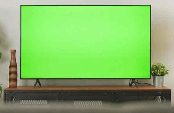 Зеленый экран телевизора, причины и решения